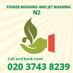 Hampstead Gdn Suburb water jet power washer N2