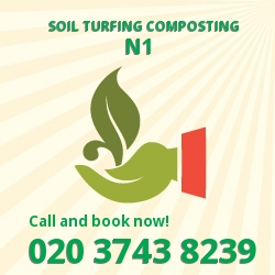 N1 gardening and composting services in Canonbury