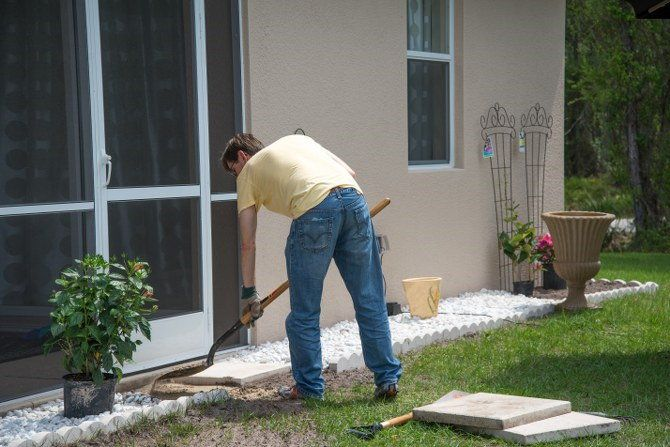 garden edging installation