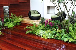 E14 garden decking Canary Wharf