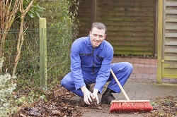 W5 clearing leaves in South Ealing
